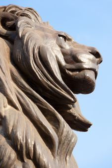 Free Lion Face Statue Royalty Free Stock Photo - 20909125