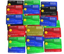 A Layer Of Colored Credit Cards Royalty Free Stock Images