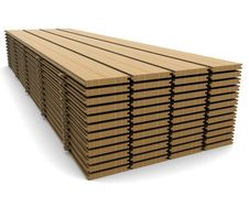A Stack Of Pine Boards Royalty Free Stock Photos