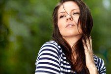 Free Beautiful Girl In The Rain Stock Images - 20909544