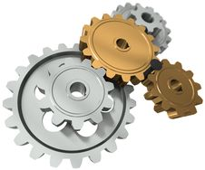 Free Nail Between Gears Royalty Free Stock Photos - 20909758