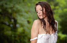 Free Beautiful Girl In The Rain Royalty Free Stock Images - 20909819