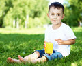 Free Portrait Of A Little Boy In The Park Stock Photography - 20911622