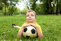 Free Little Boy In The Park With A Ball Royalty Free Stock Photos - 20911638