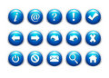 Free Buttons Set Royalty Free Stock Photos - 20916638