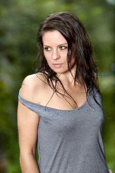 Free Beautiful Girl In The Rain Stock Photos - 20910283