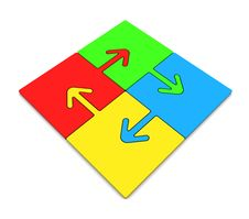 Color Puzzles Arrow Royalty Free Stock Images