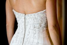 Free Back Of Wedding Dress Royalty Free Stock Photo - 20911075