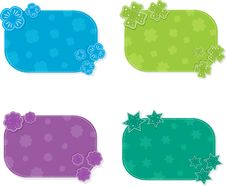 Free Set Of Colorful Cards, Vector Illustration Royalty Free Stock Image - 20911176