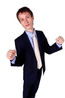 Businessman Gesturing OK In Studio Royalty Free Stock Photos