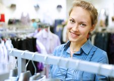 Free Woman In A Shop Buying Clothes Stock Images - 20911814