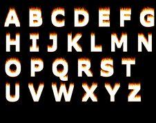 Burning Alphabet Royalty Free Stock Images