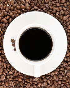 Free Coffee Cup View From Top Royalty Free Stock Images - 20912569