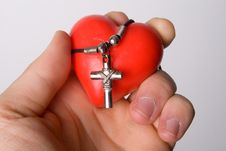 Free Heart And Cross Stock Photos - 20912793