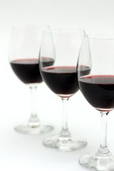 Free Three Glasses Of Red Wine Stock Images - 20912794