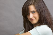 An Attractive Young Brunette Woman Stock Photography