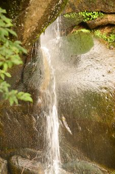 Free A Waterfall Breaking Through Stones Stock Photography - 20913602