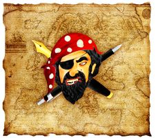 Free Pirate At Office Royalty Free Stock Image - 20914206