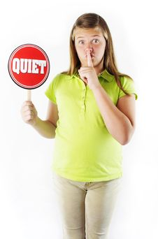 Free Be Quiet Royalty Free Stock Photo - 20914235