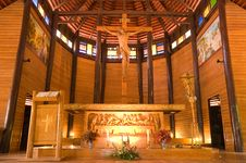 Free Wooden Church In Thailand Stock Photography - 20915092
