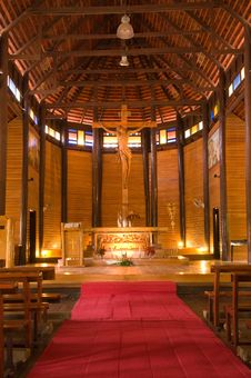 Free Wooden Church In Thailand Stock Image - 20915101