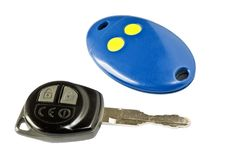 Free Car Key And Remote Electric Gate Royalty Free Stock Images - 20915159