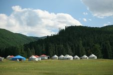 Free Tianshan Ranch Vacation Tent Stock Photos - 20915173