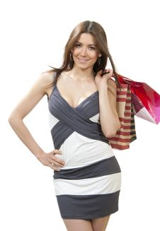 Free Beautiful Woman With Shopping Bags Royalty Free Stock Photos - 20915368