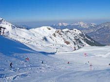 Free Skiing Slope Stock Image - 20915721