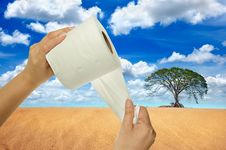 Free Hand Holding Tissue Paper Stock Image - 20915971