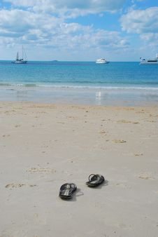 Free Sandals On The Tropical Beach Stock Photo - 20916440