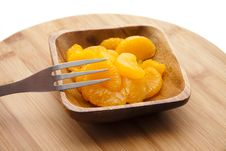 Free Tangerine Peeled With Fork Stock Images - 20916474