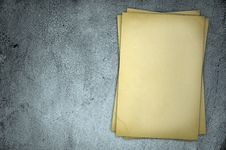 Free Old Yellow Paper On Grey Dirty Wall Royalty Free Stock Photo - 20917655