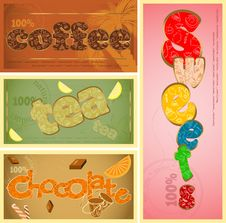 Free Tags - Coffee, Tea, Chocolate Royalty Free Stock Images - 20917859