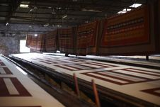 Sweatshop Coloring Textile Factory In India Stock Photos
