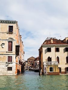 A Bridge Of Grand Canal In Venice, Italy Royalty Free Stock Photography