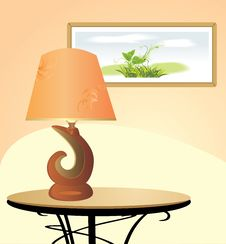 Free Night Lamp And Picture. Fragment Of Interior Stock Photography - 20919852