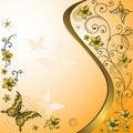 Free Orange And White Vintage Frame Stock Image - 20920311