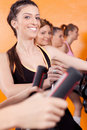 Free Group Of Four People In The Gym Stock Images - 20923114