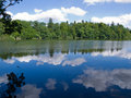 Free Reflection Of Trees And Clouds In A Lake Stock Photography - 20929192
