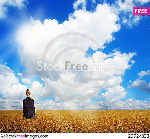 Free Woman On Field Stock Photos - 20924803