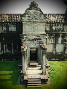Free Angkor Wat First Level North Gate Stock Image - 20920221