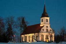 Church At Nught Stock Photo
