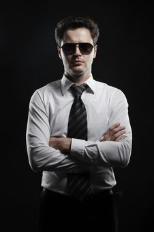 Free Portrait Of A Young Businessman In Sunglasses Stock Photos - 20920863