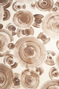 Brown Spiral On Wall Background