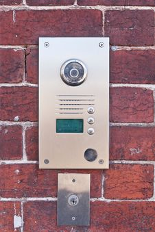 Free Metal Security Buzzer Camera Royalty Free Stock Images - 20921459