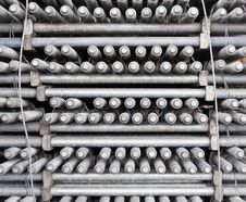 Many Layers Of Machine Bolts Royalty Free Stock Image