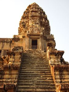 Free Stair To Third Level Of Angkor Wat Royalty Free Stock Photo - 20922765