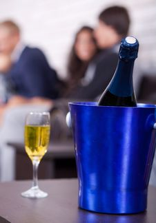 Free Champagne In Focus, Couples In Background Stock Image - 20922991
