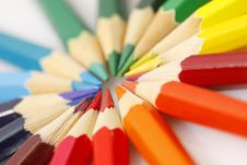 Free Color Pencils On White Background Royalty Free Stock Images - 20923089